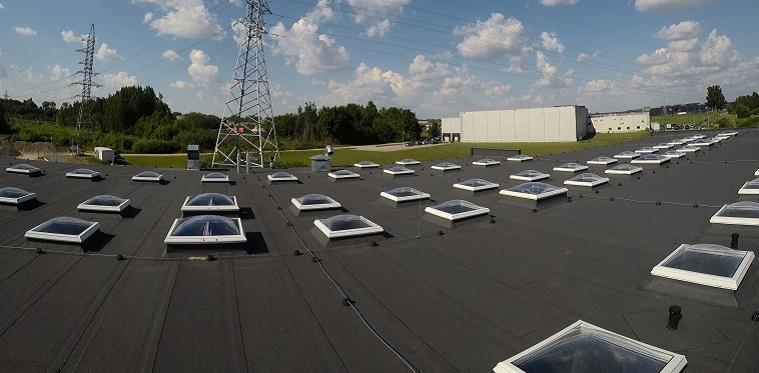 Stoglangiai plokštiems stogams. Konstrukciniai tipai