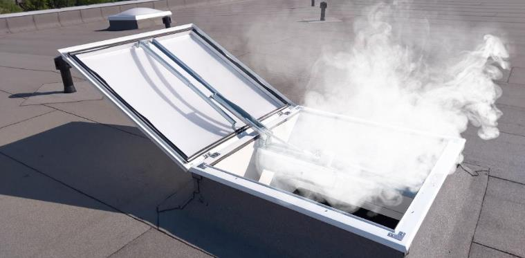Using AOV roof lights for smoke ventilation
