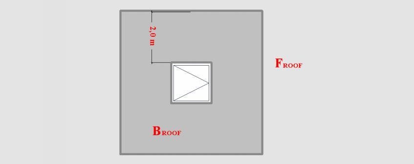 Dūmų šalinimo sistemų projektavimas - atstumas nuo Frooft1 stogo
