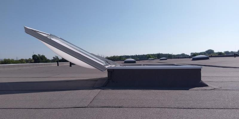 smoke heat extraction skylight domes solidome photo